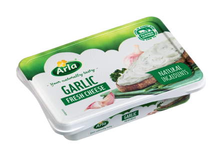 15,5% Fresh cheese with Garlic and Herbs (Lactose free)